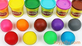 Learn Colors Play Doh Balls Disney Peppa Pig Molds Tayo Pikachu Ice Cream Baby Surprise Toys