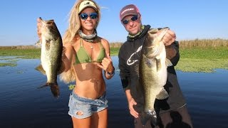 Fishing the Best & Biggest Bass Lake in Florida