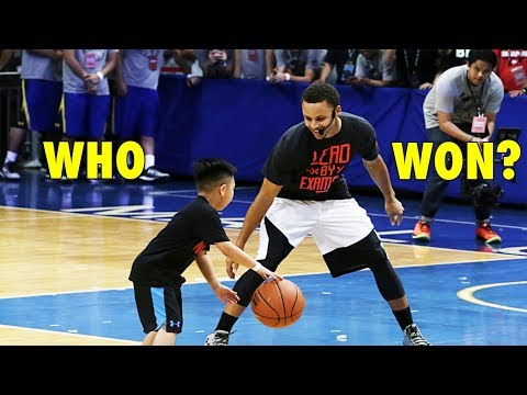 Stephen Curry vs. 7-year old boy