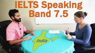 IELTS Speaking Score 7.5 – India