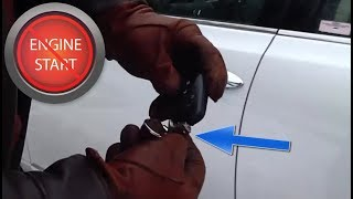 Getting into a car with a dead key fob or smart key battery and a hidden key hole!
