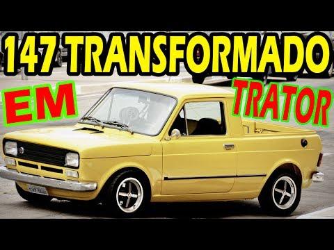 FIAT 147 TRANSFORMADO EM TRATOR DE VERDADE