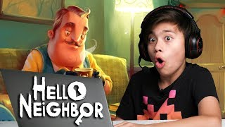 HELLO NEIGHBOR: ACT 1 - Something Scary in the Basement! Playing in the DARK!