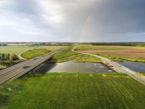 N18 Drone Projects Brug over Berkel Eibergen Juli 2017