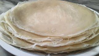 Comment faire la pâte des feuilles de brick/ Cuisine tunisienne / Recette feuilles de brick