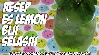 minuman segar - es lemon biji selasih