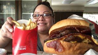 Mukbang | Wendy's | baconator