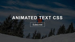 Create Landing Page With Animated Text Using HTML And CSS | Animation In HTML & CSS
