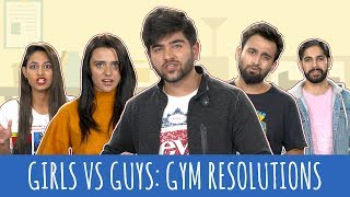 MensXP: Types Of People In The Gym | Gym Resolutions - Guys VS Girls |