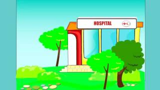 Amy's Hospital | doctor nurse hospital | educational video for little kids | Baby Games