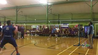 Portsmouth badminton tournament 2017  semifinals Misba and Zethu vs Nasir and Rehan