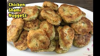 Tasty Unique Chicken Shami Nuggets /Kids Lunch Box Recipe By Yasmin's Cooking