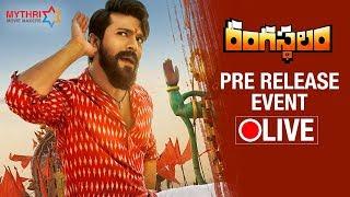 Rangasthalam Pre Release Event LIVE   Ram Charan   Samantha   Aadhi   Sukumar   DSP