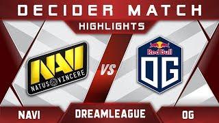 NaVi vs OG DreamLeague Major 2017 EU Highlights Dota 2