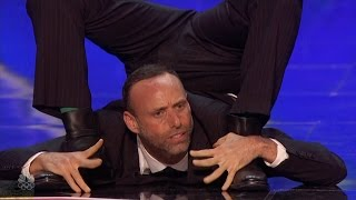 America's Got Talent 2016 Jonathan Nosan The Suited Contortionist Full Audition S11E02