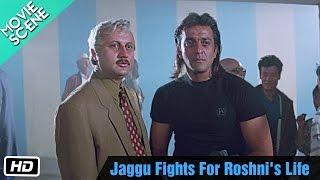 Jaggu Fights For Roshni's Life - Movie Scene - Anupam Kher, Sanjay Dutt