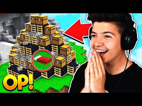 WORLDS MOST OP BED DEFENSE Minecraft BED WARS