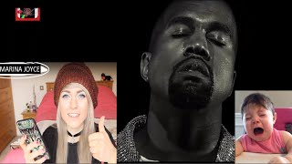 reaction kanye west  wolves balmain campaign  extreme compilation by marina joyce viral video