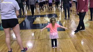 Audrey Nethery dancing at Raise Gold!!