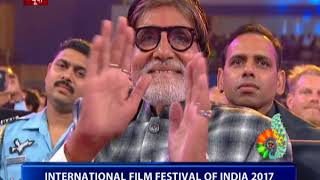 Amitabh Bachchan conferred with 'Indian Film Personality of the Year' award at IFFI 2017