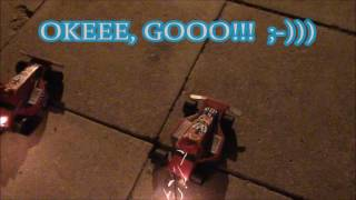 PyroExtrem VS Achie Arabier..Fireworks Race Cars ;-)) ..Valencia 2017.. Feuerwerk/ vuurwerk