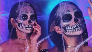 CRACKED SKULL Halloween Makeup + PRANK ATTACK at the END! (with ENGLISH SUB) | Raiza Contawi