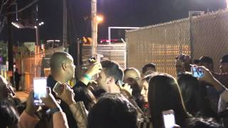 Girls mob Prince Royce in Hollywood parking lot