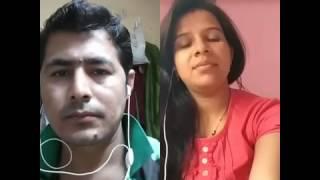 indian girl with Bangladeshi boy sweet hindi song singing on smule