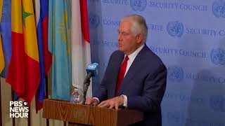 WATCH: Secretary of State Rex Tillerson holds news briefing on North Korea