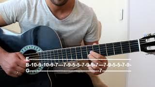 Balti - Ya Lili feat. Hamouda - Guitar Tutorial ( TAB )