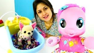 Ayşe ve Loli Pinkie Pie`ye banyo yaptırıyor🛀#Kızoyunları ve oyuncakları👸