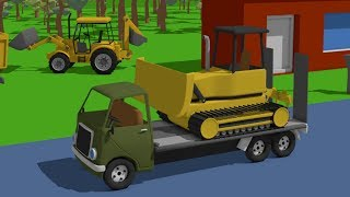 Video for Kids | Construction work digging tunnel | Animacja Dla Dzieci | Roboty Budowlane - Tunel