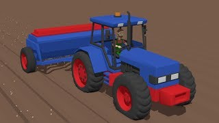 Super:) Blue #Tractor it Sows Grain | The farmer is working | Niebieski Traktor Sieje Zboże Bajka