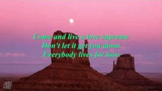 Robbie Williams - Supreme with lyrics