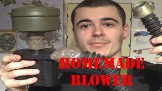 Homemade gas mask/respirator blower system