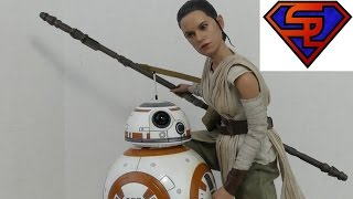 Star Wars The Force Awakens Hot Toys Rey & BB-8 Movie Masterpiece 1/6 Scale Figure Set Review