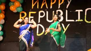 Beautiful dance performance by UPHSD Indian girls-Republic day celebration