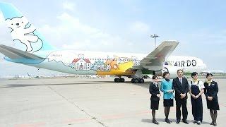 News AIR DO 20周年特別塗装機 報道お披露目 Boeing767-300 JA602A ニュース 羽田空港