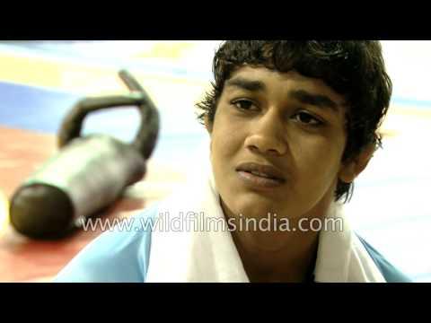 Babita Phogat, a professional female wrestler from India
