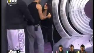star academy 8.25/5/2011.أقوى شجار بين سارة وحسام.part 1