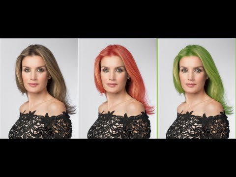cambiar el color del pelo con Photoshop cs6