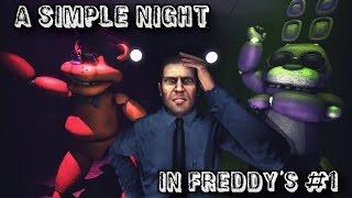 SFM| A Simple Night in Freddy's| Part 1