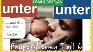 German Prepositions (6) - UNTER - simpel & with pics
