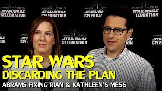 Star Wars: Kathleen Kennedy and Rian Johnson Discarded J.J. Abram's Trilogy Plan