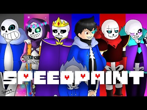 SpeedPaint! Alternative Universe Sans! (Undertale AU's) Part 5 (Re-upload)