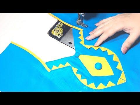 Kameez Neck design/Front Neck design cutting and stitching
