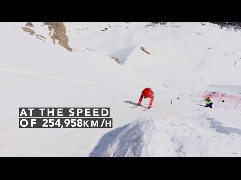 OFFICIAL 2016 Speed Skiing World Record in Vars by Ivan Origone 254.958 km h