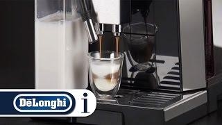 How to make hot drink using milk menu with your De'Longhi Eletta Cappuccino ECAM 45.760