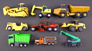 Learning Construction Vehicles for Kids - Heavy Machinery Bulldozers Dump Trucks for Kids