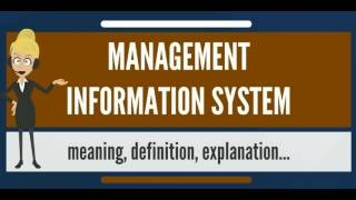 What is MANAGEMENT INFORMATION SYSTEM? What does MANAGEMENT INFORMATION SYSTEM mean?
